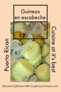 Puerto Rican Cuisine at it's best: Guineos en Escabeche
