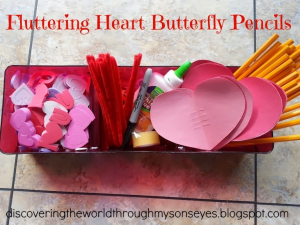 Valentine's Day Fluttering Heart Butterfly Pencil
