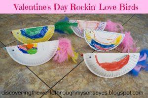Valentine's Day Rockin' Love Birds Kids Craft