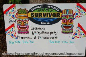 Kids Survivor Birthday Party Games