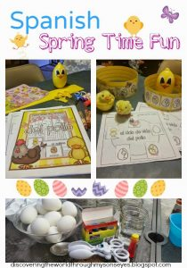 Spanish Spring Time Fun with Easter Eggs, and Learning about the Life Cycle of a Chicken