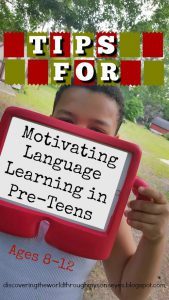 Tips for Motivating Language Learning in Pre-Teens