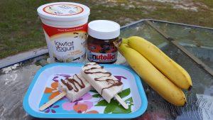 Banana Yogurt Nutella Swirl Paleta