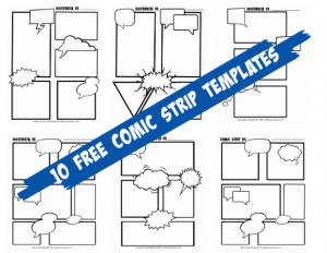 Ten Free Comic Strip Printables with English and Spanish Headers
