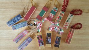 Jenga Christmas Ornaments