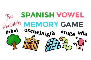 Spanish Vowel Memory Game